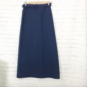 J. Crew Navy Maxi Pencil Skirt